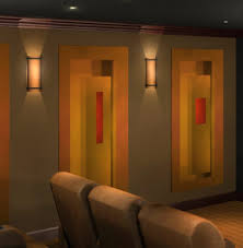 home theatre lighting ideas. Wall Sconce Ideas:Panel Oriental Model Rectangular Home Theater Sconces Two Way Shine Warm Theatre Lighting Ideas O