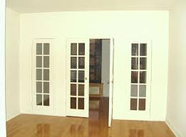 white interior french doors with side panels