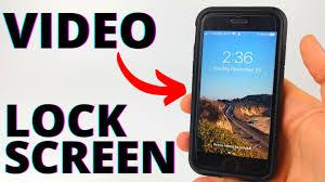 set video as lock screen wallpaper