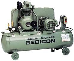 hitachi air compressor. hitachi bebicon air compressor 2hp, 8bar, 105kg 1.5op-9.5gs5a s