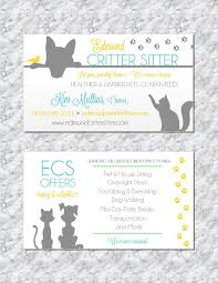 Pet Sitter Business Cards Pet Sitting Business Card Animal Business Card Pet Sitter Business