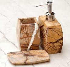 Handmade Bathroom Accessories Wholesale Marble Soap Dish In Brown Color From Online Bulk