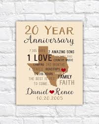 anniversary gifts for men 20th anniversary gift for him or her husband wife personalized anniversary time gift countdown texas map
