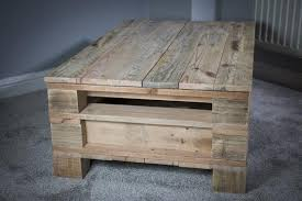 pallet wood coffee table with sliding