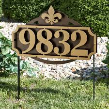 Decorative Yard Signs Decorative House Number Yard Signs House Design And Ideas 18