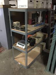 used warehouse shelving and boltless archive box storage rack delivery assembly available
