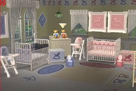 mod the sims gingham rocking horse complete nursery clothing collection for twins in two colours