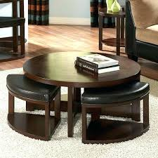 coffee tables with ottomans underneath cream table theme and also glass coffee table with ottomans underneath