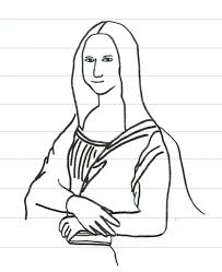 Small Picture Mona Lisa Coloring Page Master Pieces Coloring Pages For Adults
