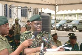 call on us for all your ia the director delivering his address during the guard of honour