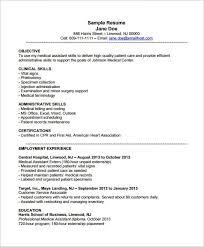 Medical Assistant Objective For Resume Musiccityspiritsandcocktail Com