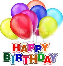 happy birthday design happy birthday design with balloons stock vector colourbox