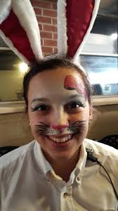 simple bunny face paint face painting simple easter bunny face painting simple bunny face paint