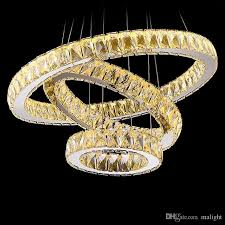 modern chrome chandelier crystals diamond ring led lamp stainless steel hanging light fixtures adjule cristal led re michigan chandelier small