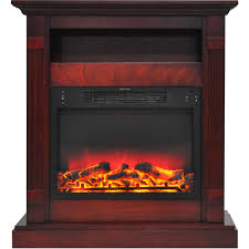 home home décor electric fireplaces fireplace mantels sienna 34 in electric fireplace w enhanced log display and cherry mantel cam3437 1chrlg2