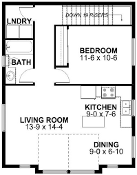 Second Floor Plan of Garage Plan 99942 Just switch the bedroom and the  bath/laundry  Above Garage ApartmentGarage ...