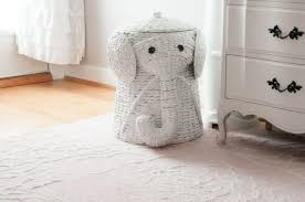 breathtaking white rattan stained creative elephant wicker hamper with top  closed for nursery animal furniture standing