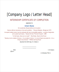 sample certificates of completion summer internship certificate summer training certificate sample for