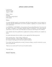 Cover Letter For English Teacher Job Sample Cover Letter For Fresh