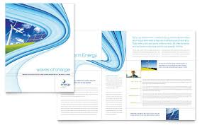 Buy Brochure Templates Renewable Energy Consulting Brochure Template Word Publisher