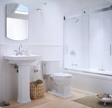 inspired kohler archer in bathroom traditional with sliding shower