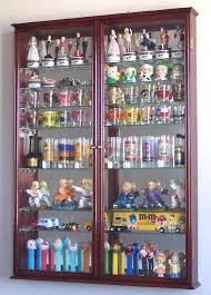 display case cabinet cherry finish 144 shot glass display case cabinet with hinged door