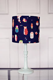 Owl Bedroom Accessories Lampshades Blue Owl Lamp Shade Boys Blue Nursery Childrens