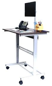 small stand up desk mobile standing desk computer desk adjule height mobile adjule height stand up desk with monitor mount mobile standing desk