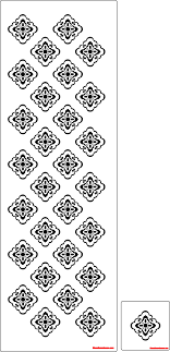 doily repeat pattern stencil