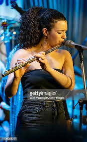 American Jazz musician Elena Pinderhughes plays flute performs with... News  Photo - Getty Images