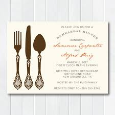 Dinner Invation Vintage Inspired Silverware Rehearsal Dinner Invitation