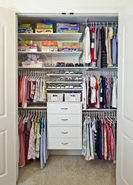 this would work really well for smaller clothes in childrens wardrobes as this example shows
