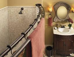 moen adjule double curved shower rod offers exceptional strength and ility