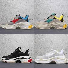 Chunky Designer Shoes Us 90 99 50 Off Triple S Sneakers Women Platform Shoes Trainers Runner Men Breathable Designer Dad Shoes Chunky Sneakers Clear Air Cushion Shoes On