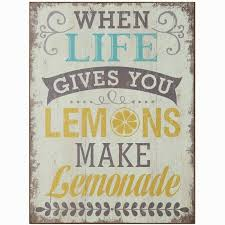 when life gives you lemons wall decor