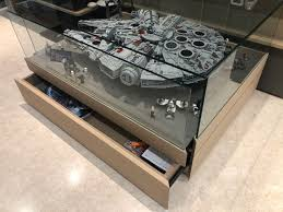 watch out for the ultimate millennium falcon 75192 assembled and glass display coffee table