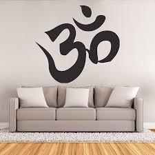 on om symbol wall art with hindu om aum symtol buddhism vinyl wall art decal