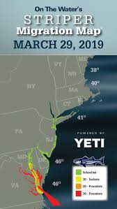 Striper Migration Map March 29 2019 On The Water