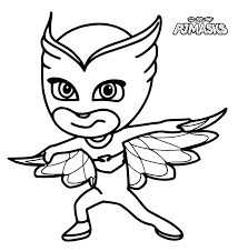 Small Picture PJ Masks Coloring Pages Coloring Home