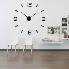 2018 new 3d diy large quartz acrylic mirror wall clock fashion art home decor wall stickers clock suit living room home watch decorative wall clocks