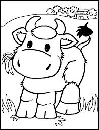 Small Picture coloring pages for kids Cow color page animal coloring pages