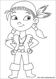 and the never land pirates coloring picture