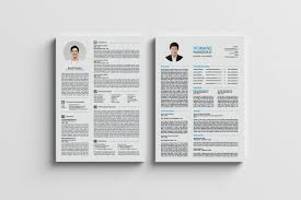 2 Page Resume Top 224 Page CV Resumes A24 Resume Templates Creative Market 10