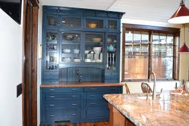 Kitchen Cabinet Paints And Glazes Cabinet With Blue Paint And Glaze Beaded Board William Pepper