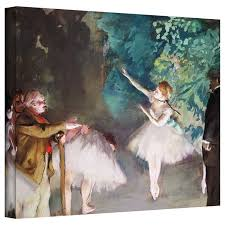 ballet rehearsal by edgar degas painting print on wrapped canvas