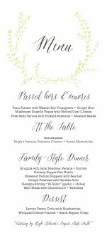 Wedding Dinner Party Menu Template Diy Reception Meetwithlisa Info