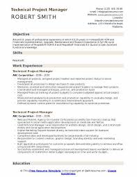 Technology Skills On Resumes Technical Project Manager Resume Samples Qwikresume