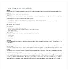 How To Write Meeting Minutes How To Write Meeting Minutes Template Business