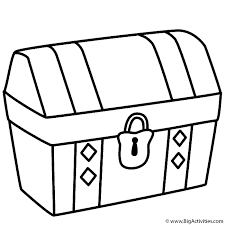 Treasure Chest Coloring Page Pirates