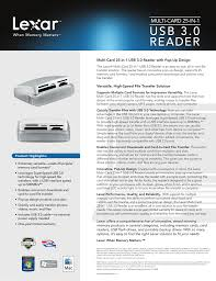 Usb 3 0 Reader Electrocomponents Manualzz Com
